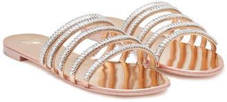 Giuseppe Zanotti Embellished Patent Leather Sandals