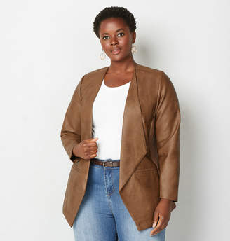 Avenue Cascade Faux Leather Jacket