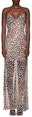 On The Island Women's Leopard-Print Silk Maxi Dress - Cream