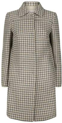 RED Valentino Check Fitted Wool Coat