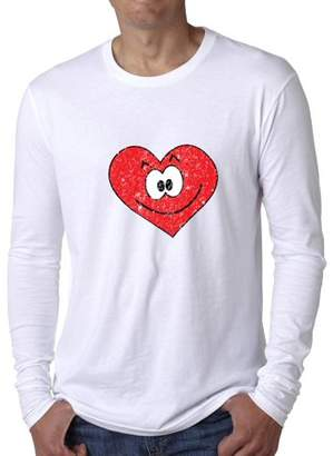 Hollywood Thread Big Red Smiling Heart Perfect Valentine Day Gift Men's Long Sleeve T-Shirt