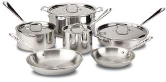 ALL-CLAD 10-Piece Brushed Stainless Steel Cookware Set