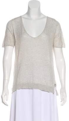 Zadig & Voltaire Knit Short Sleeve Top