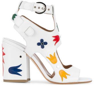 Laurence Dacade 'Naton' floral applique sandals $920 thestylecure.com