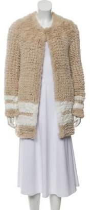 Love Token Faux Fur Short Jacket Tan Faux Fur Short Jacket
