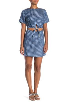 Lucca Couture Blue Star Front Cutout Mini Dress