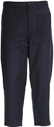Comme des Garcons Dropped-crotch Cropped Trousers