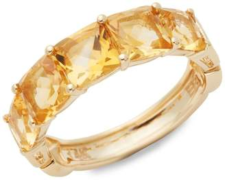 Effy 14K Yellow Gold & Citrine Ring