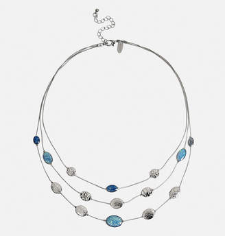 Avenue Layered Blue Glitter Necklace