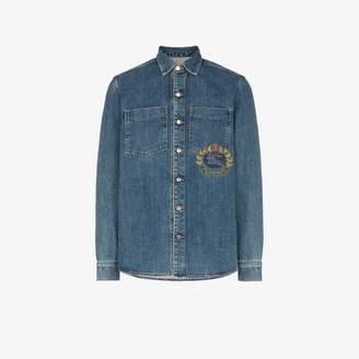 b986676199 Burberry Blue Denim Tops For Men - ShopStyle UK