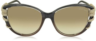 Roberto Cavalli STEROPE 972S Acetate and Crystals Cat Eye Women's Sunglasses