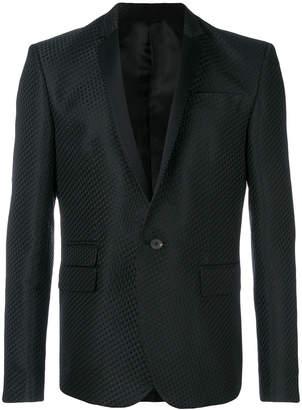 Les Hommes contrast lapel blazer