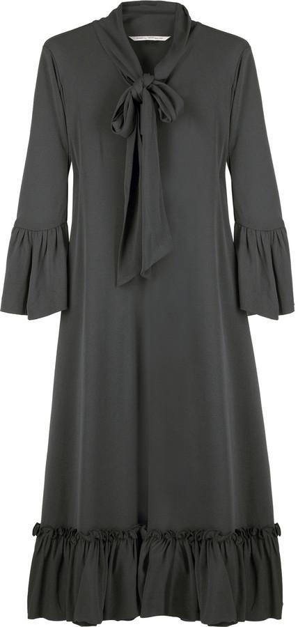 Diane von Furstenberg Crepe jersey bow dress