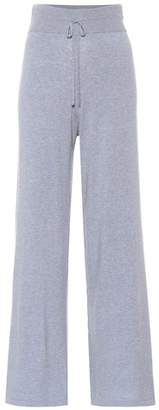 Live The Process Wide-leg stretch knit sweatpants