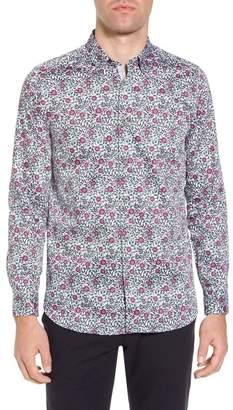Ted Baker Orense Floral Print Slim Fit Shirt