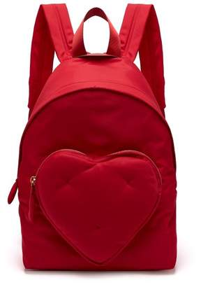 Anya Hindmarch Chubby Heart Backpack - Womens - Red
