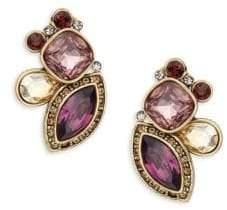 Heidi Daus Garland Crystal & Rhinstone Geometric Earrings