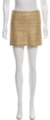 Alice + Olivia Wool-Blend Mini Skirt
