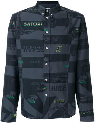 Kenzo multi print button-down shirt