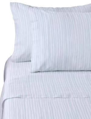 Bluebellgray Watercolor Stripe Cotton Pillowcase
