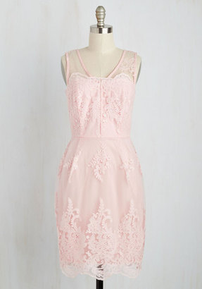 ModCloth Outstanding on Ceremony Dress in Blush in S $37.99 thestylecure.com