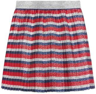 Children's lurex Sylvie stripe pleated skirt $490 thestylecure.com