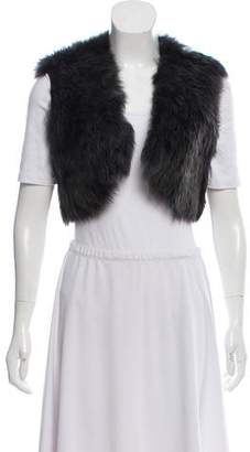 Ralph Lauren Black Label Cropped Shearling Vest