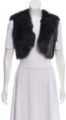 Ralph Lauren Black Label Cropped Shearling Vest