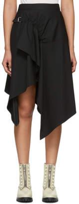 3.1 Phillip Lim Black Tailored Handkerchief Skirt