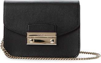 Furla Onyx Julia Saffiano Leather Mini Crossbody
