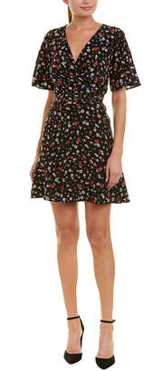 The Kooples Floral Silk A-Line Dress