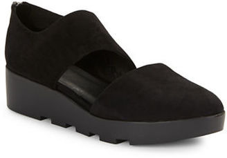 Eileen Fisher Turban Suede Platform Shoes $198 thestylecure.com