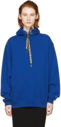 Proenza Schouler Blue PSWL Logo Hoodie