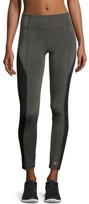 Aurum Colorblocked High-Rise Leggings, Gray/Black $95 thestylecure.com