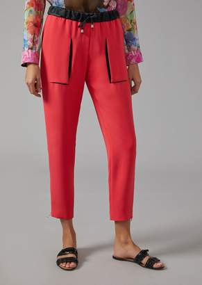 Giorgio Armani Crepe Trousers With Drawstring