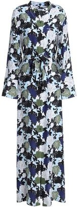 Equipment Britten Floral-print Silk Crepe De Chine Maxi Shirt Dress