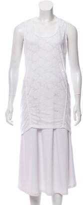 Balenciaga High-Low Sleeveless Top