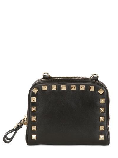 Valentino Around Studs Soft Leather Shoulder Bag