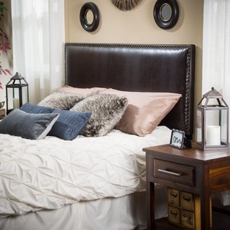 Noble House Hayden Brown Leather King/Cal King Headboard