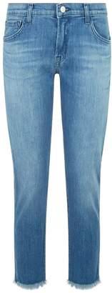 J Brand Sadey Straight Cropped Jeans