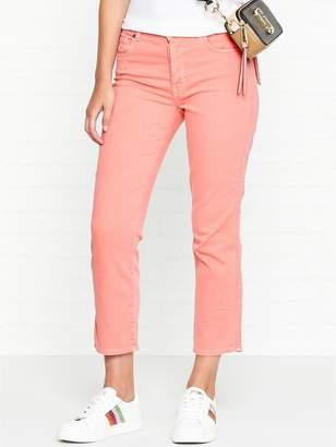 7 For All Mankind Edie High Rise Slim Leg Jeans