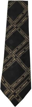 Dolce & Gabbana Vintage Black Silk Ties