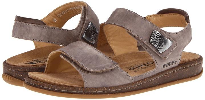 Mephisto Qennie (Dark Taupe/Dark Brown Gabin) - Footwear