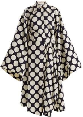 Awake Polka-dot print pleated dress