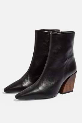 Topshop Womens Henley Western Boots - Black