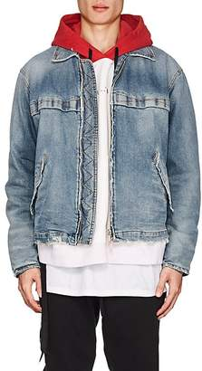 Taverniti So Ben Unravel Project Men's Distressed Denim Jacket