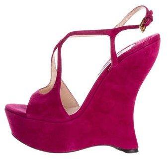 pradaPrada Suede Platform Sandals