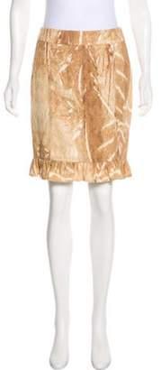 Max Mara Denim Knee-Length Skirt Tan Denim Knee-Length Skirt