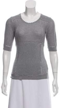 Chloé Knit Short-Sleeve Top