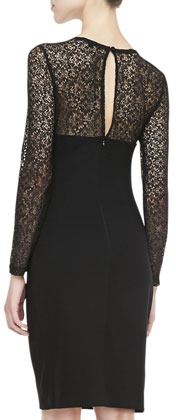 French Connection Vienna Lace-Panel Dress
